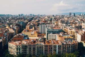 View from one of our favorite places to visit in Barcelona, the top of la Sagrada Familia