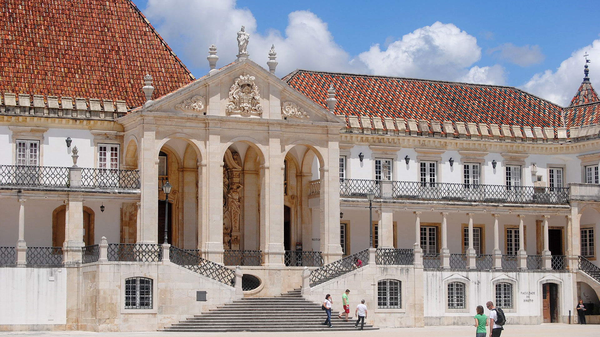 The campus of University of Coimbra