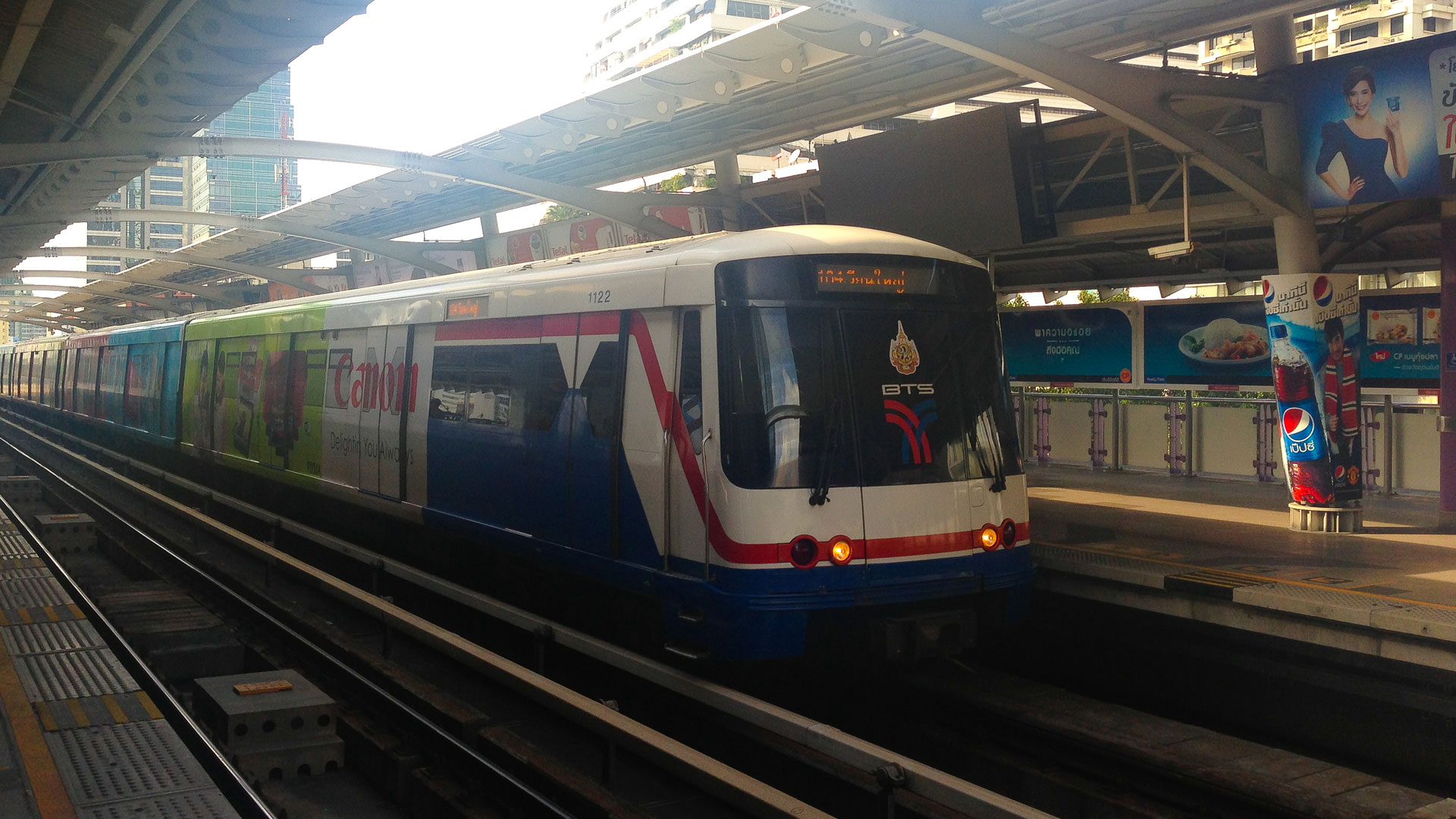 BTS Sky Train at Chong Nonsi station in Bangkok