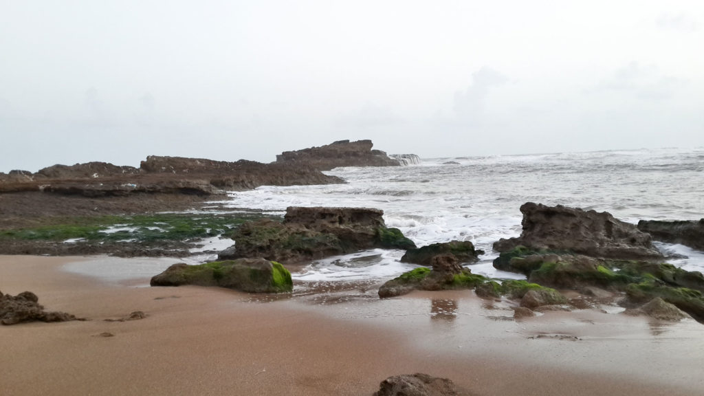 View of the Arabian sea at the Jhalandar beach in Diu