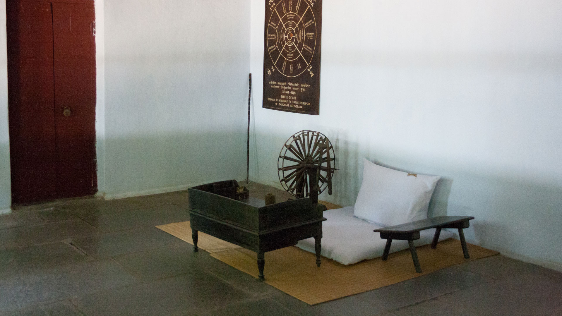 Gandhi's legendary spinning wheel at Sabarmati Ashram