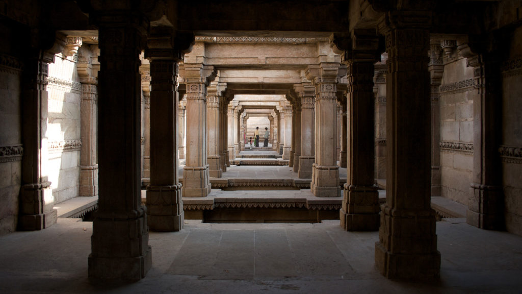 Inside Adalaj stepwell, one of the top places to visit in Ahmedabad