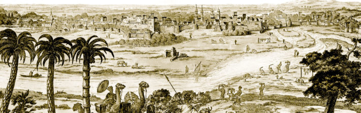 Drawing of Ahmedabad by Dutch missionary Philippus Baldaeus in 1672