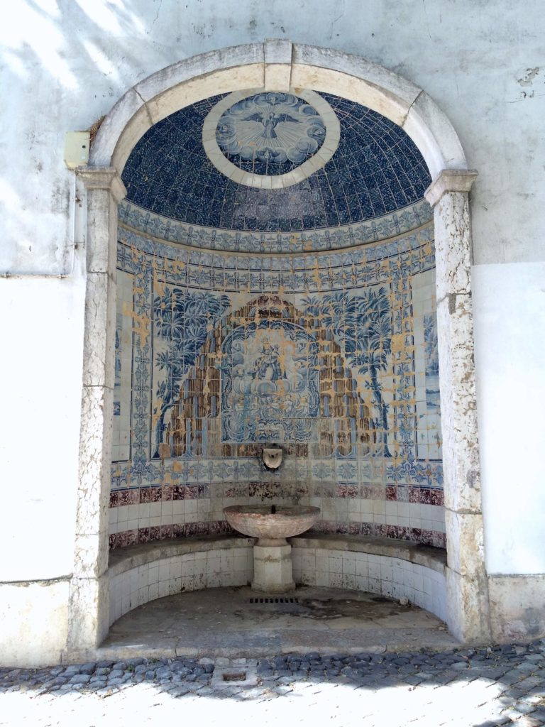 One of the many fountains in Alfama Lisbon