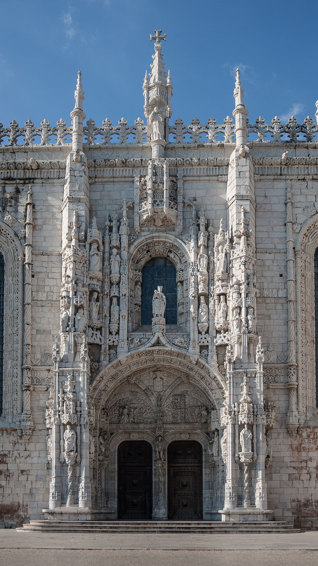 One of the elaborate doors at the Mosteiro dos Jeronimos in Lisbon (one of the Manueline style's most popular monuments)