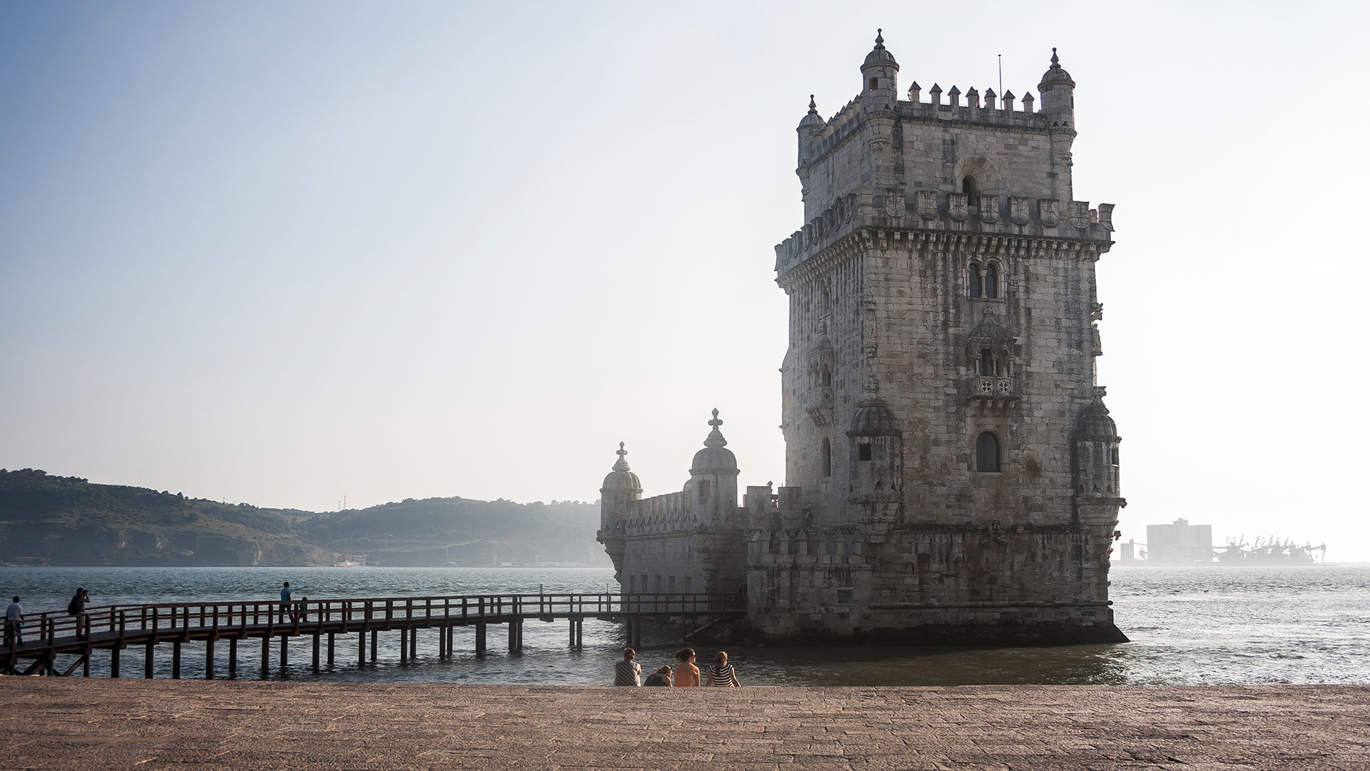 Torre de Belem in Lisbon at sunset
