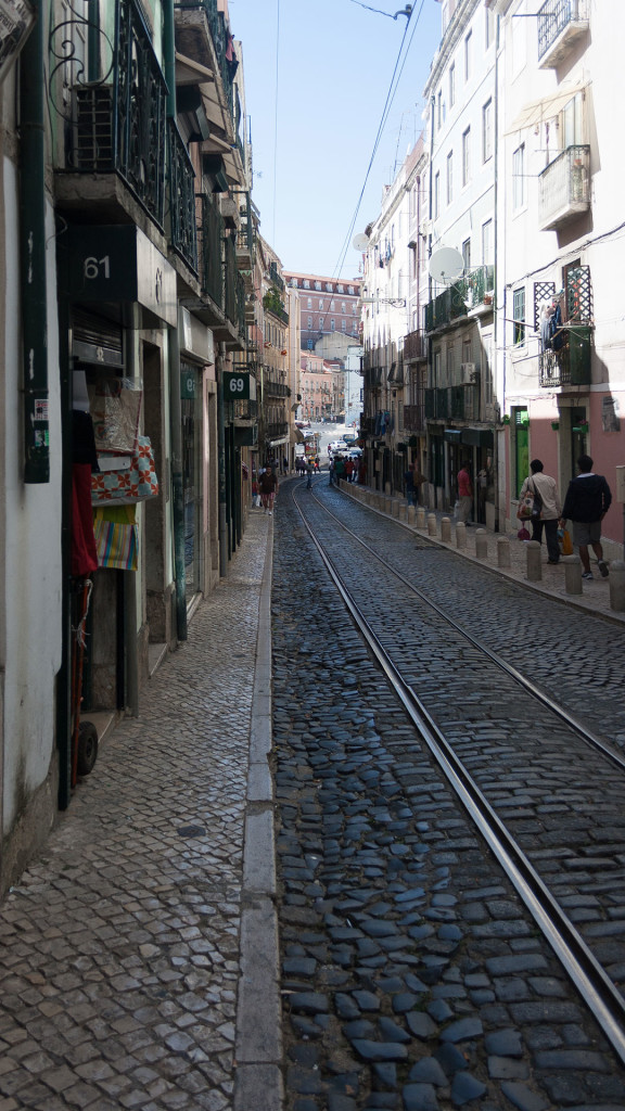 One of the shopping streets in the Mouraria neighborhood (one of the four spots for alternative shopping in Lisbon)