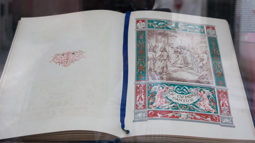 """An old edition of """"Os Lusíadas"""" on display in one of the antique stores in Rua de São Bento   4 Spots for Alternative Shopping in Lisbon @tripprblog"""