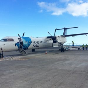 One of the planes of SATA Air Açores that connects the islands