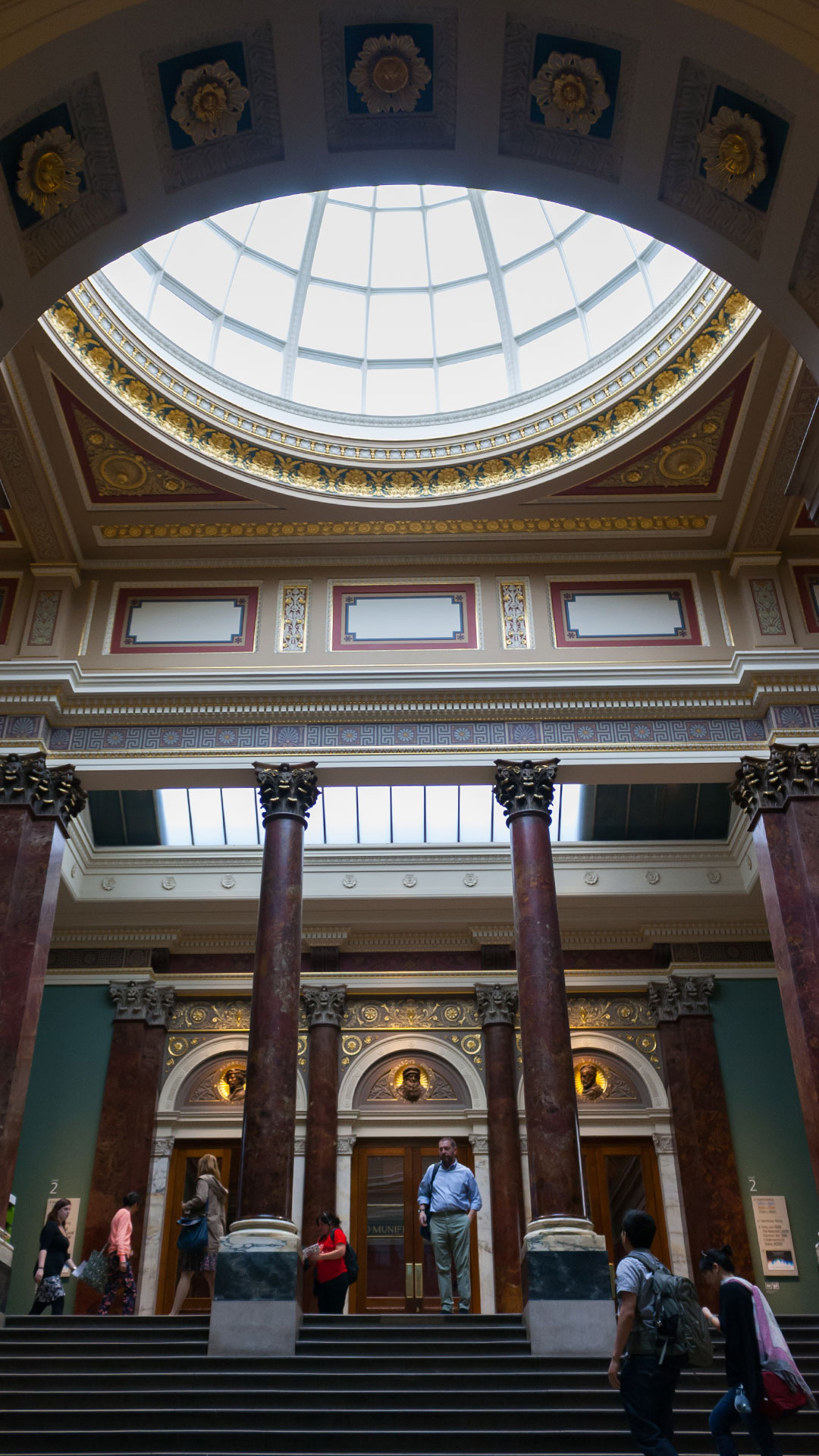 Inside the National Gallery in London