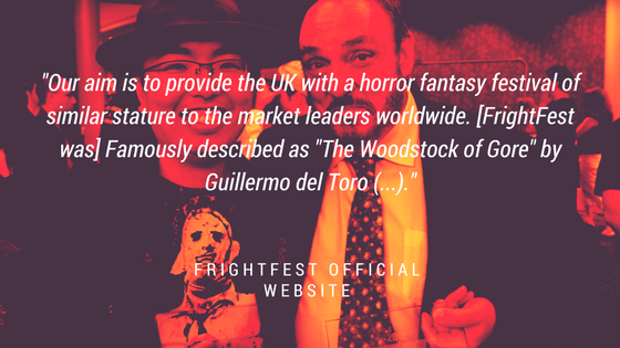 Graphic with quote about FrightFest