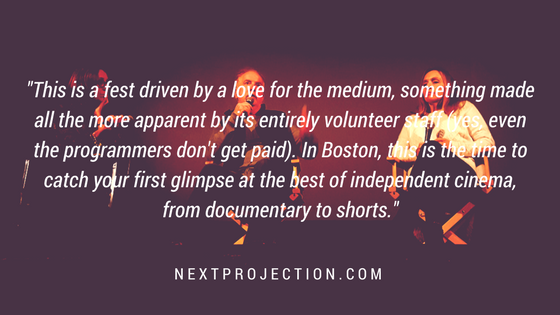 Graphic with quote about IFF Boston