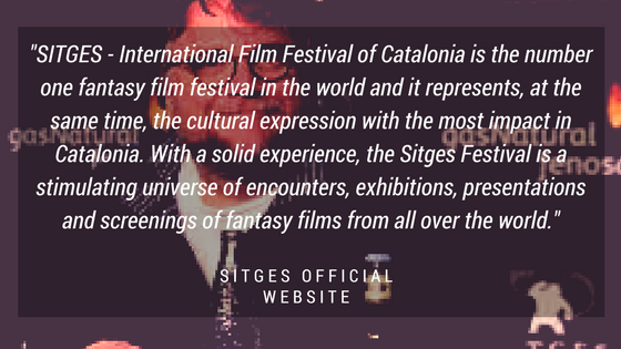 Graphic with quote about Sitges FIlm Festival