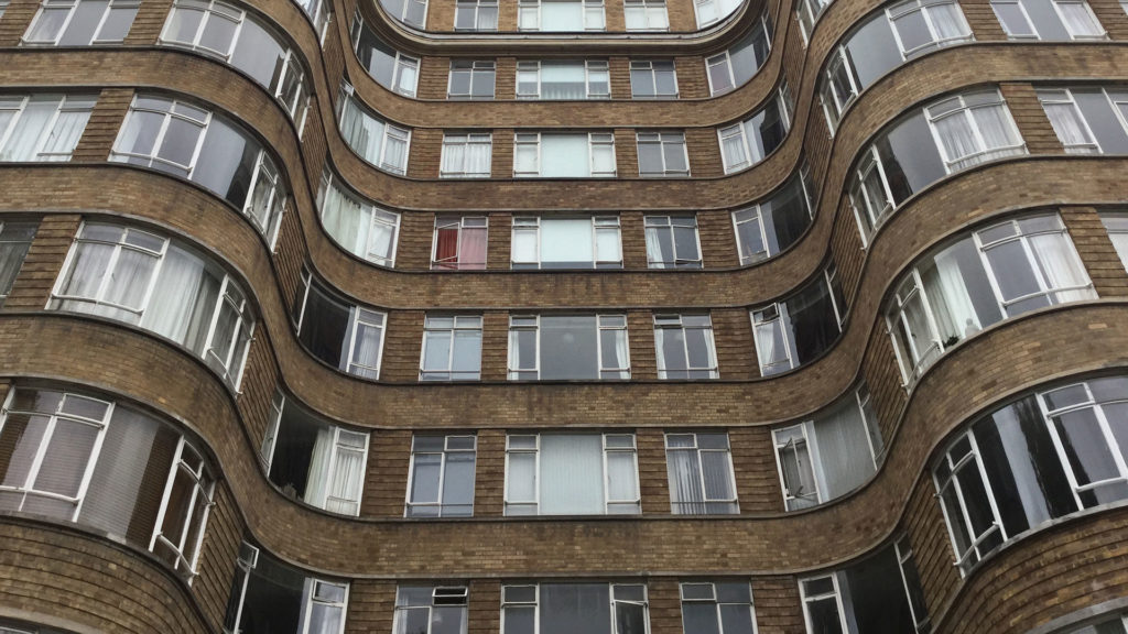 The facade of ITV's Poirot apartment building is one of our 7 offbeat things to see in London