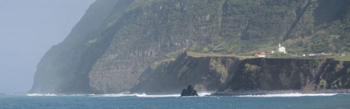 The rock Monchique off the coast of Flores Azores