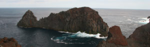 Rocks off the coast of Graciosa Azores