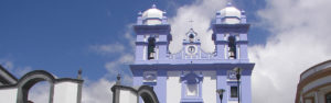 Colorful church in the city of Angra do Heroismo in Terceira Azores