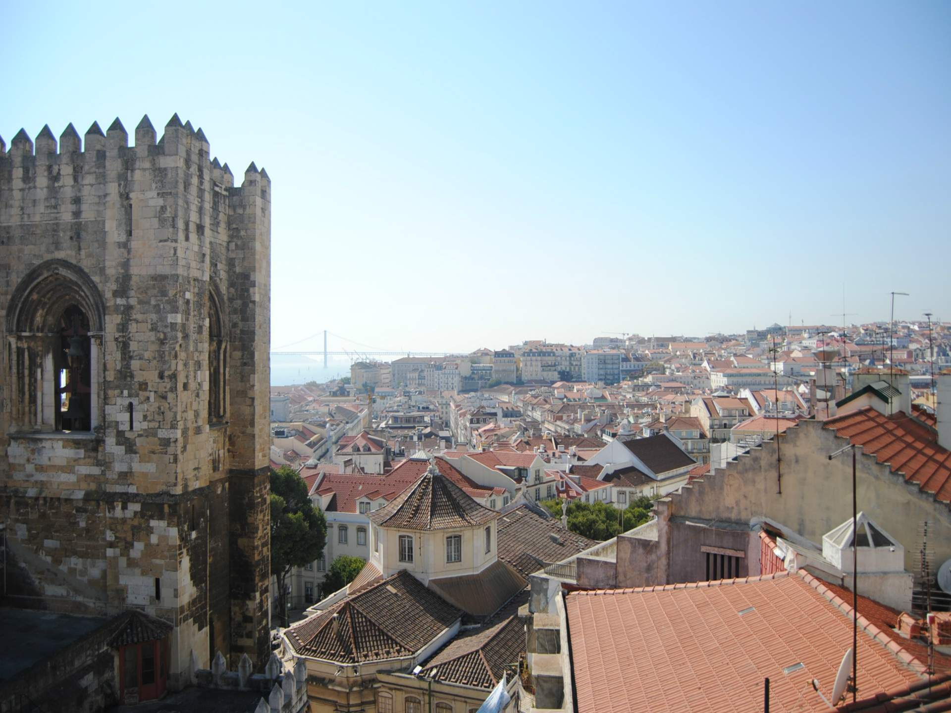 View from the top of Aljube Museum | 32 Free and Paid Spots to See Lisbon from the Top