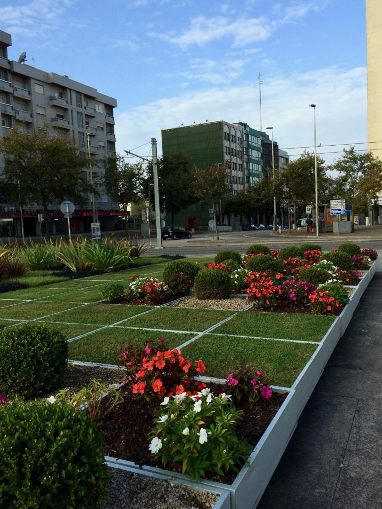 Mobile garden designed by Eduardo Souto Moura near the City Council in Maia