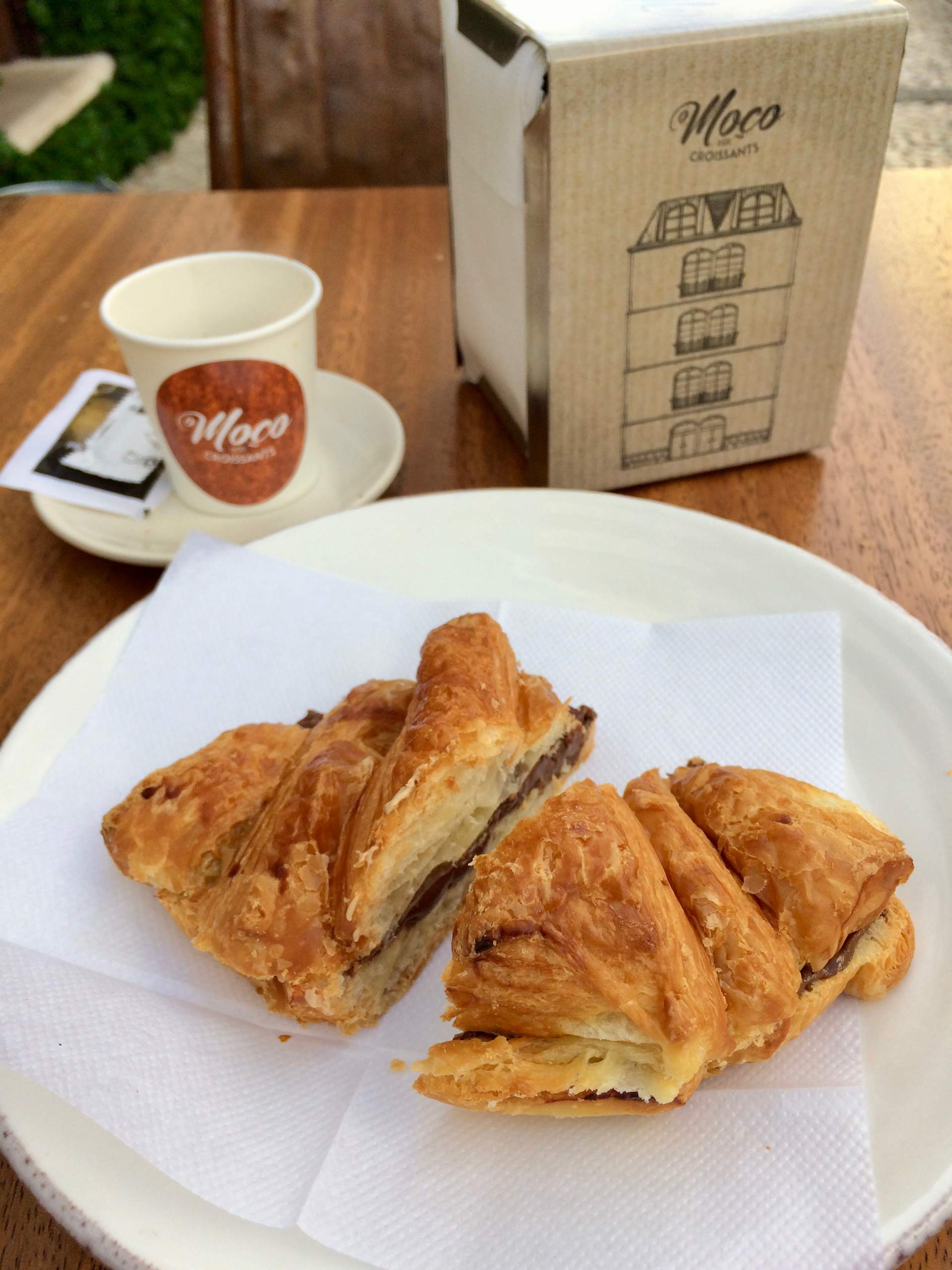 French-inspired chocolate croissant at Moço dos Croissants in Campo de Ourique, Lisbon