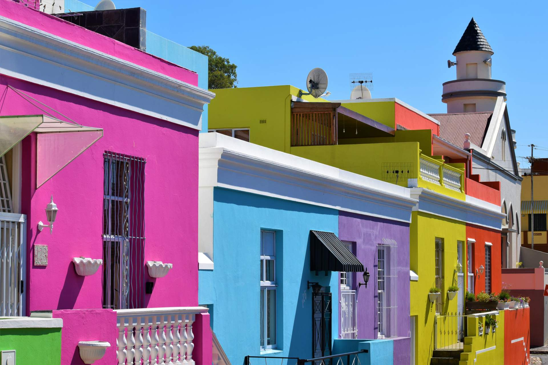 Colorful houses of the Bo-Kaap District in Cape Town, South Africa