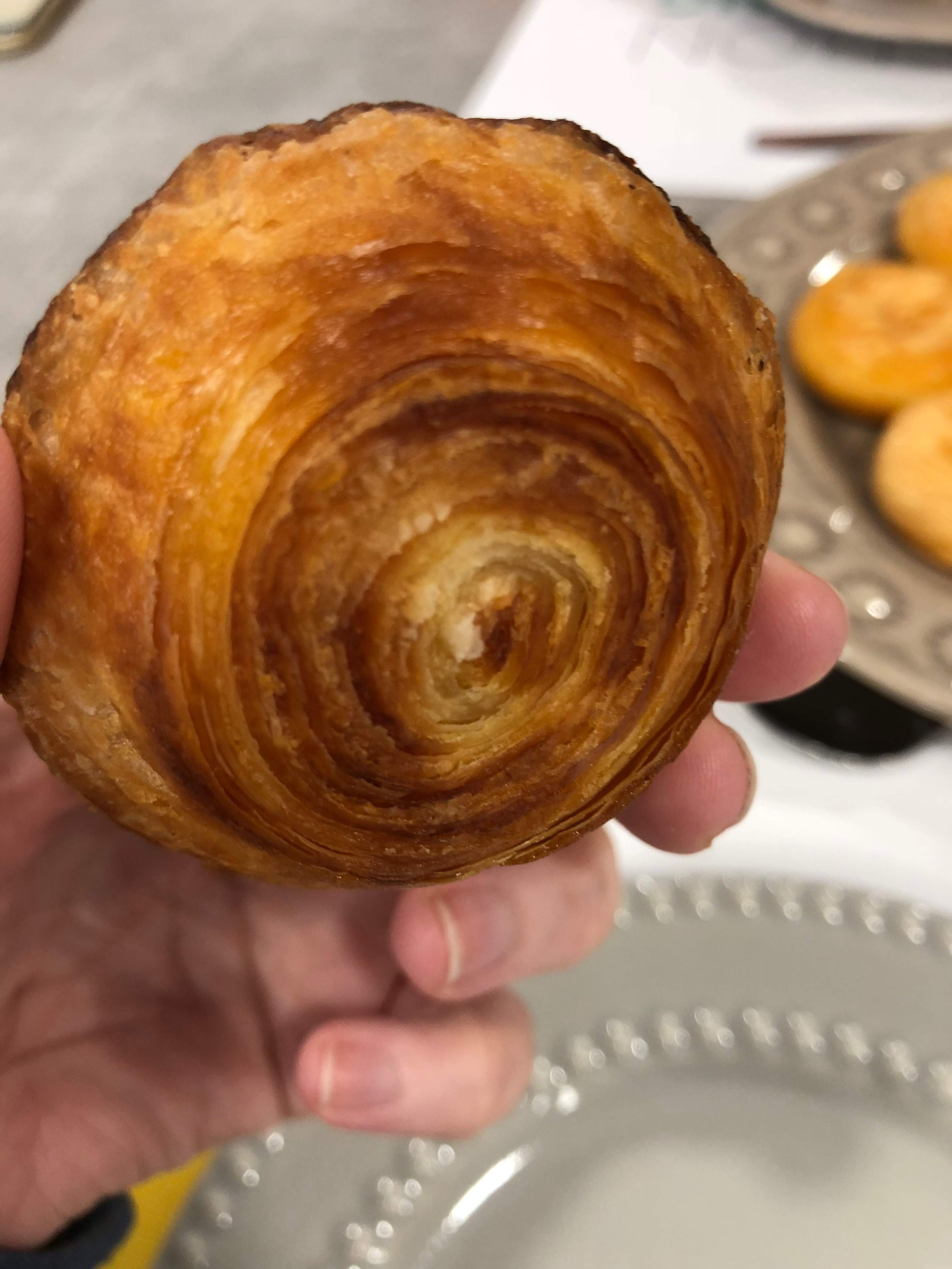 the spirals on the bottom of a pastel de nata is the secret to finding out if a pastel de nata is handmade or not