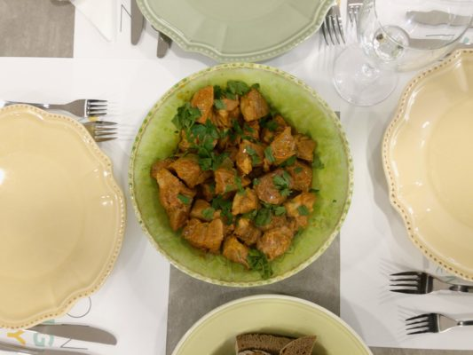 Lisbon Cooking Academy chose sauteed pork as our starter dish during this Market Tour and Cooking Class.