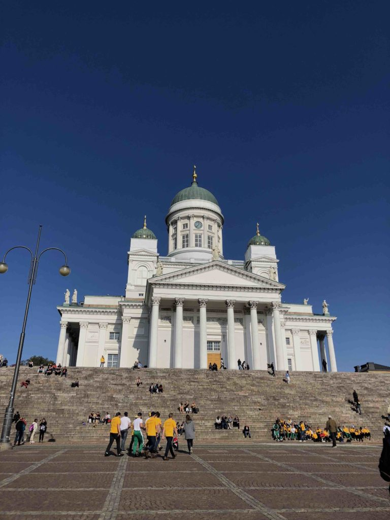View of the steps leading to the Helsinki Cathedral