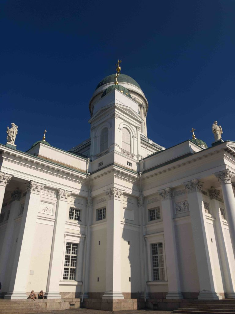 Close up of the Helsinki Cathedral