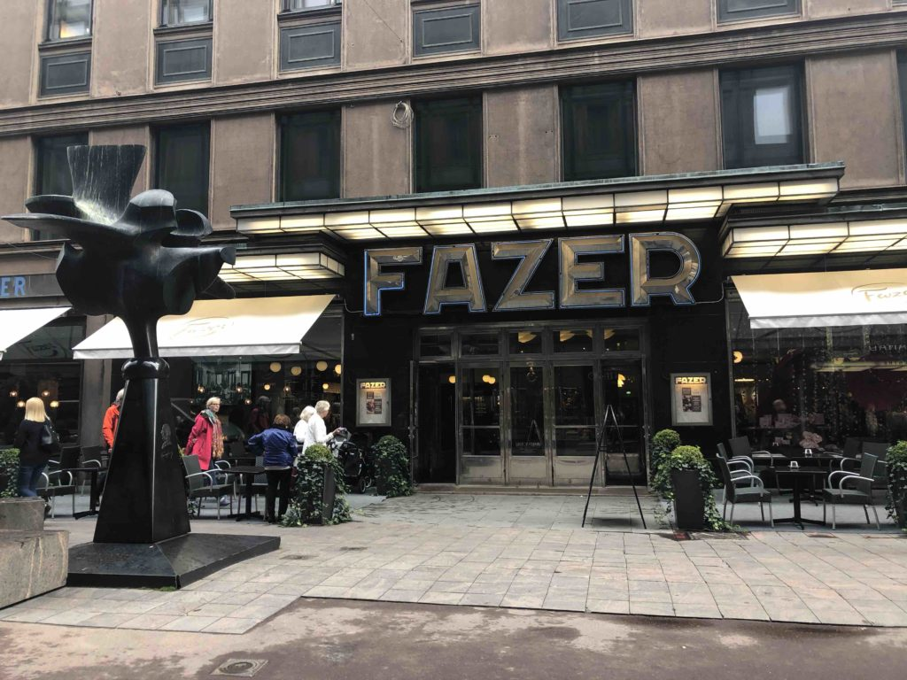 Famous cafe in Helsinki for its chocolates and pastries, Karl Fazer