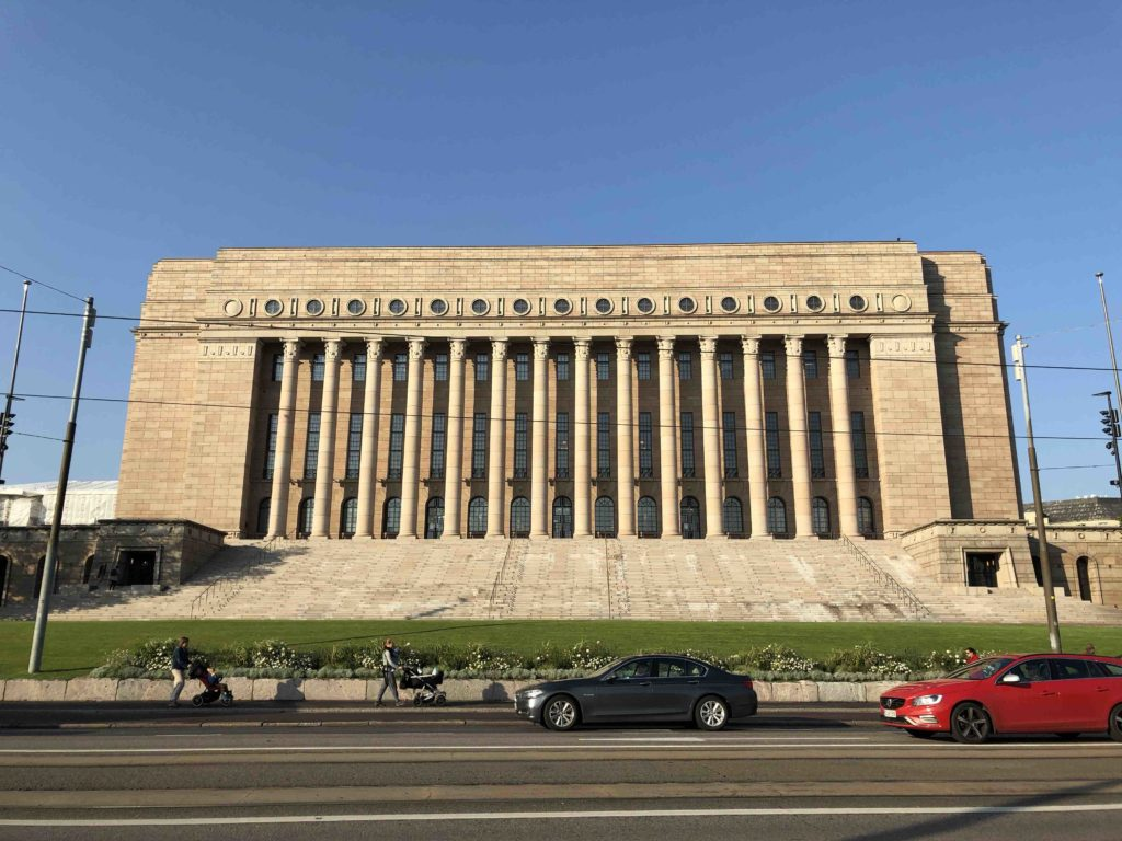 The Finnish Parliament in Helsinki