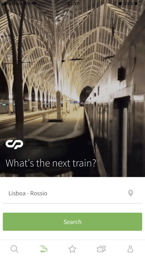 Free Lisbon apps for smartphones: cp screenshot