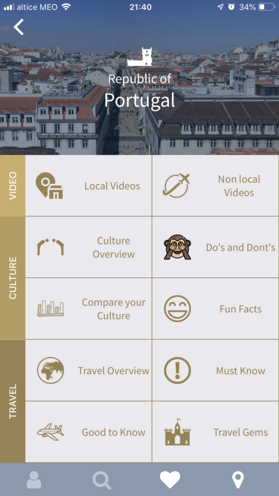 Free Lisbon apps for smartphones: culture men screenshot